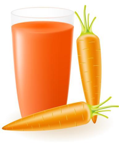 Ilustración de vector de jugo de zanahoria