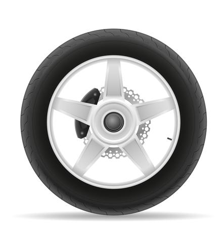 pneu de roda da motocicleta da ilustração vetorial de disco vetor