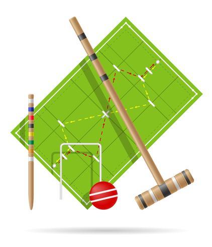 aire de jeux pour illustration vectorielle de croquet