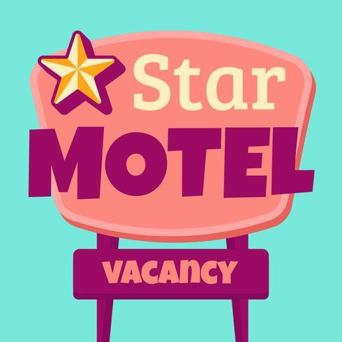 segno di motel retrò