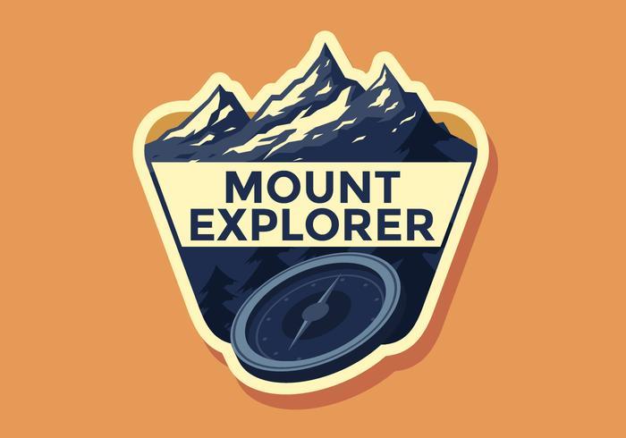 Mount Explorer Retro Badge Vector