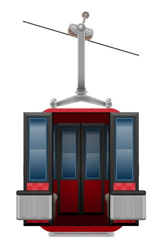 ilustração em vetor de teleférico de esqui de cabine