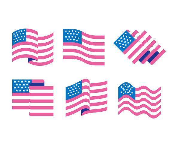 Amerikaanse vlag set