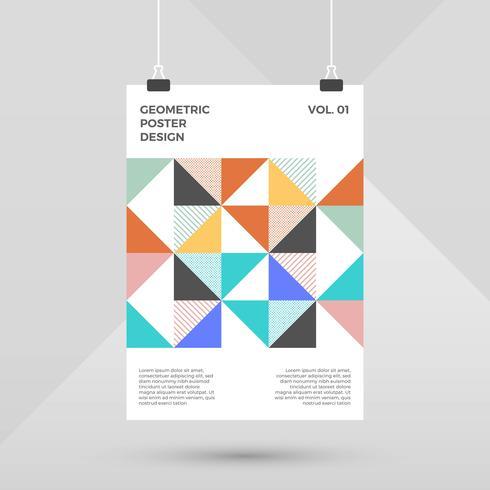 Plat Scandinavisch geometrisch posterontwerp