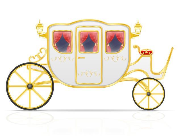 carrello reale per il trasporto di persone illustrazione vettoriale