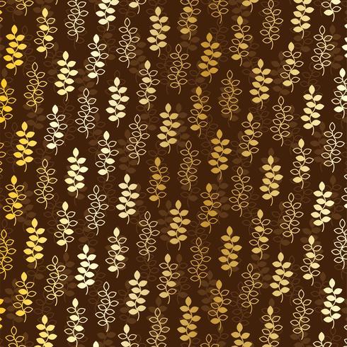 gold leaf pattern on brown