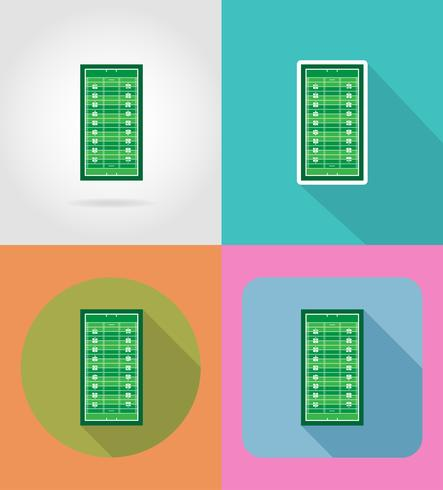field for american football flat icons vector illustration