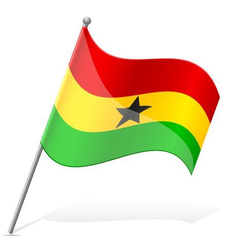 flagga av Ghana vektor illustration