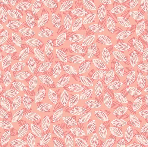 modello foglia sul rosa