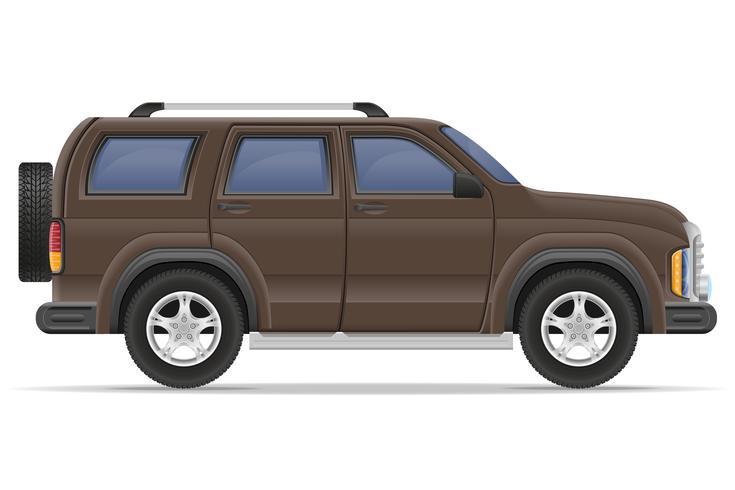 Ilustración de vector de coche SUV