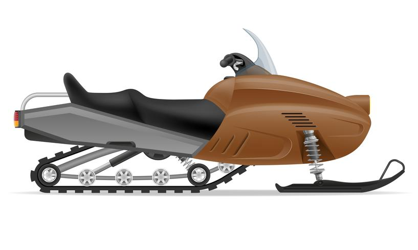 snowmobile for snow ride vector illustration