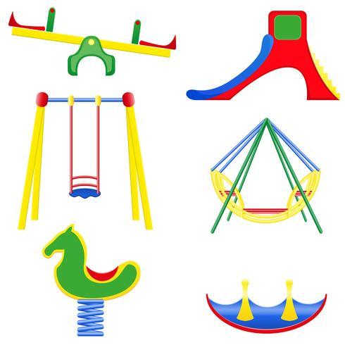 iconos niños teeter ilustración vectorial