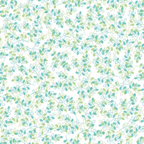 patrón de hoja verde azul
