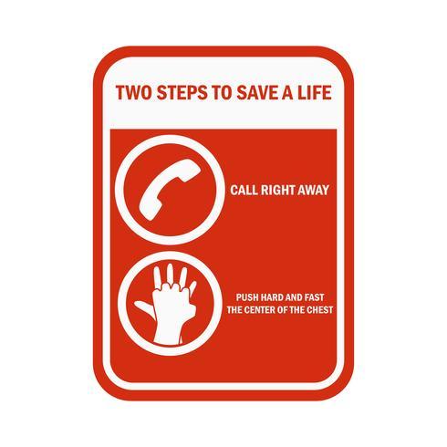 CPR Cardiopulmonary Resuscitation sign and symbol