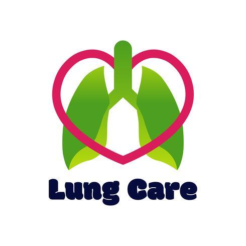 Logotipo de los pulmones aislado en el fondo blanco para la clínica pulmonar.