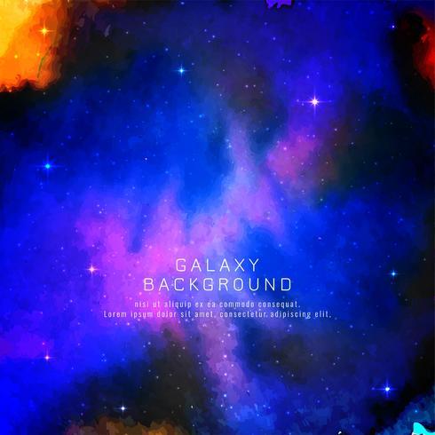 Fond de vecteur de décoration abstraite galaxie