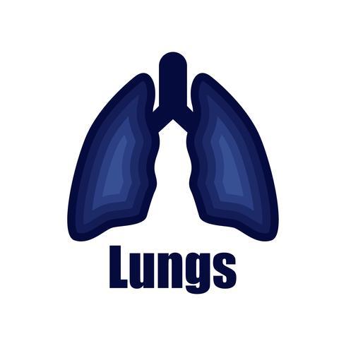 logotipo de pulmões isolado no fundo branco para clínica pulmonar