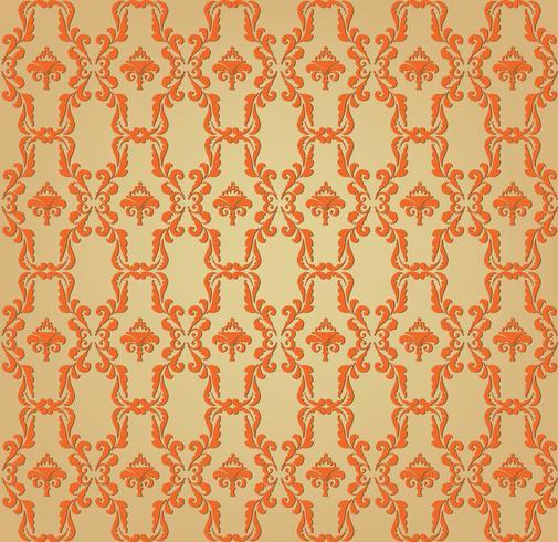 Patrón geométrico floral. Adorno retro oriental oriental. vector