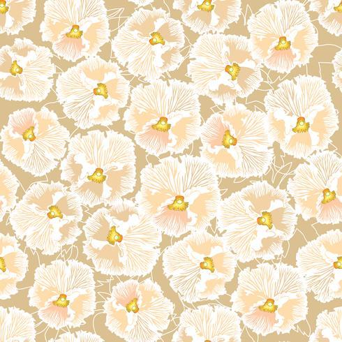 Naadloze bloemmotief. Bloem achtergrond. Bloom tuin textuur vector