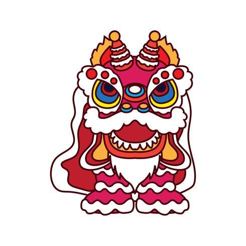danse du lion pour le festival du nouvel an chinois