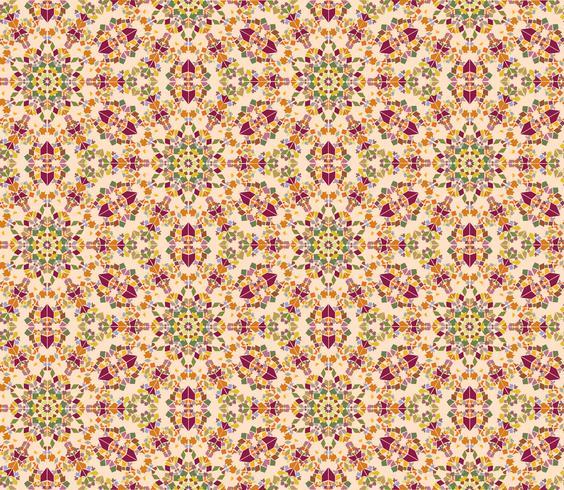 Resumo oriental floral padrão sem emenda. Ornamento de mosaico de flores vetor