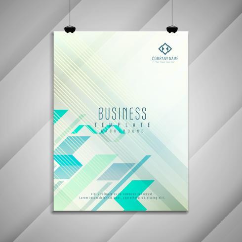 Diseño elegante abstracto de la plantilla del folleto del negocio