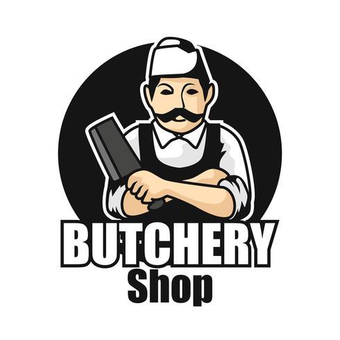 slager logo geïsoleerd op een witte achtergrond