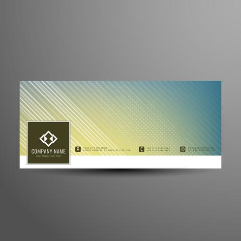 Abstract facebook timeline banner template