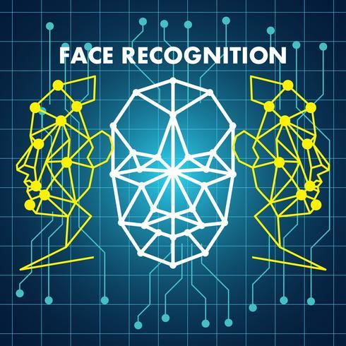 sistema de escaneo de reconocimiento de rostro humano