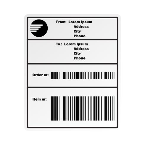 shipping barcode label sticker for shipping company