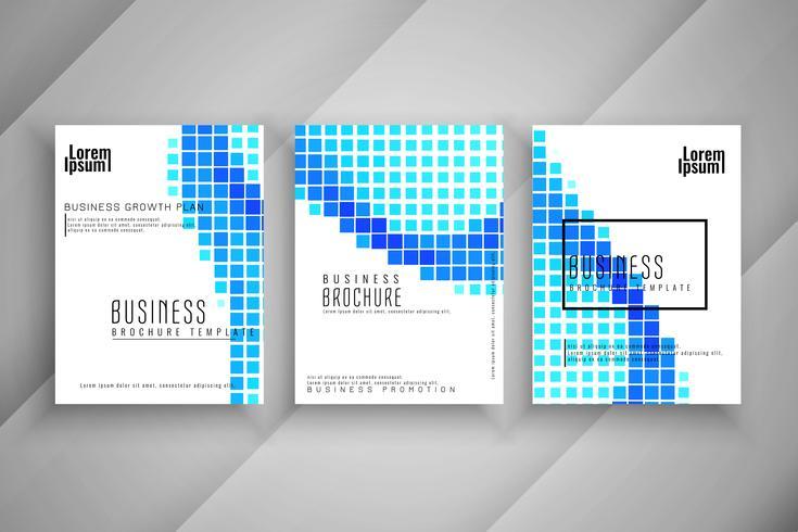 Patrón de mosaico abstracto conjunto de plantillas de folleto de negocios