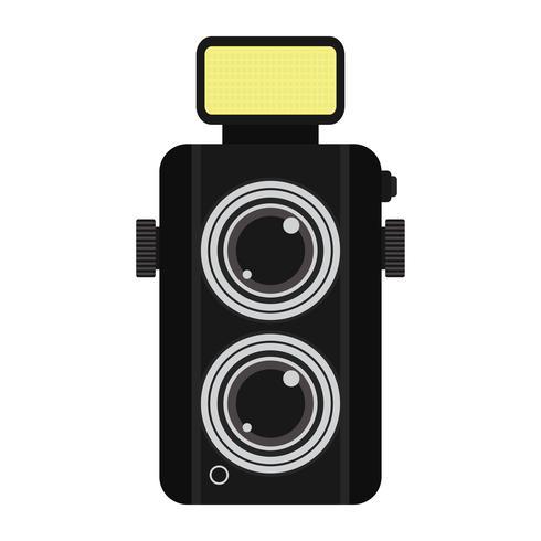 ícone da câmera no fundo branco