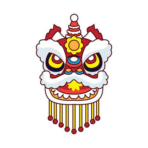 danza del león para el festival de año nuevo chino