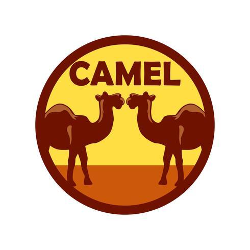 logo de chameau isolé sur fond blanc