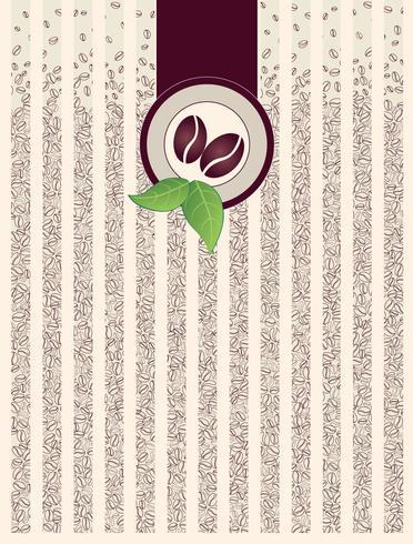 Fondo de paquete de la cafetería. Patrón de borde con granos de café cayendo vector