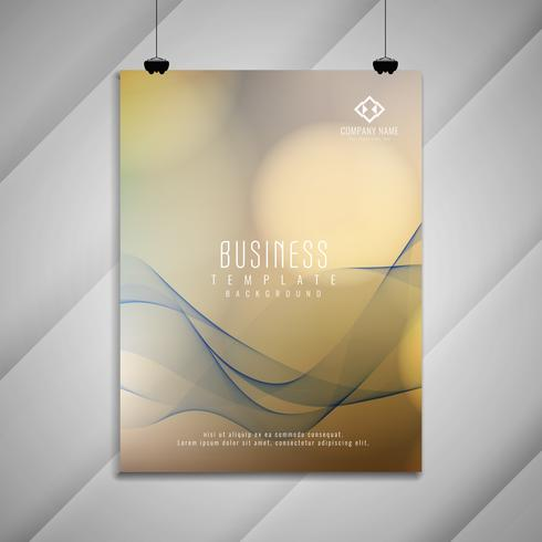 Abstract wavy business brochure design template