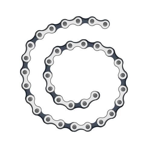bracelet de chaînes d'argent isolé sur fond blanc