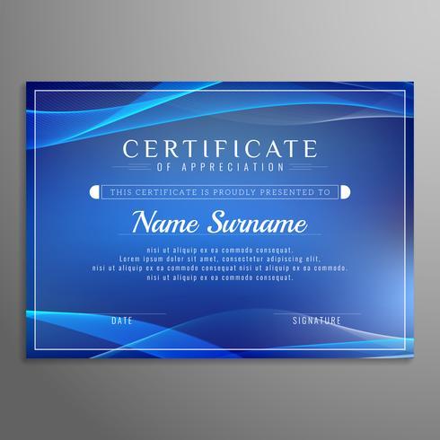 Resumen plantilla de certificado de diseño ondulado