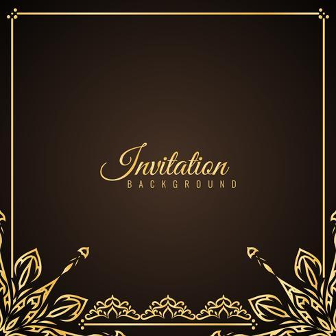 Resumen elegante fondo de invitación