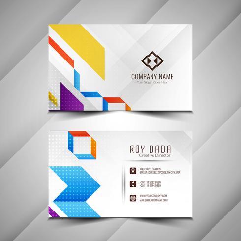 Diseño colorido abstracto elegante tarjeta de visita