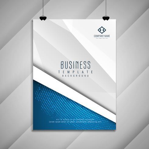 Conception de modèle de brochure abstraite entreprise élégant