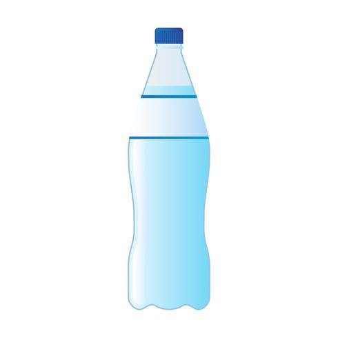 bouteille d'eau minérale isolé sur fond blanc