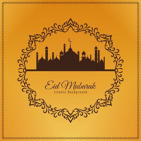 Abstracte decoratieve Eid Mubarak-achtergrond