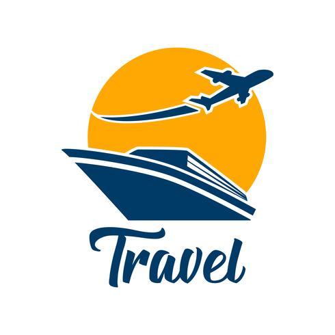 Logotipo de turismo de viajes aislado sobre fondo blanco
