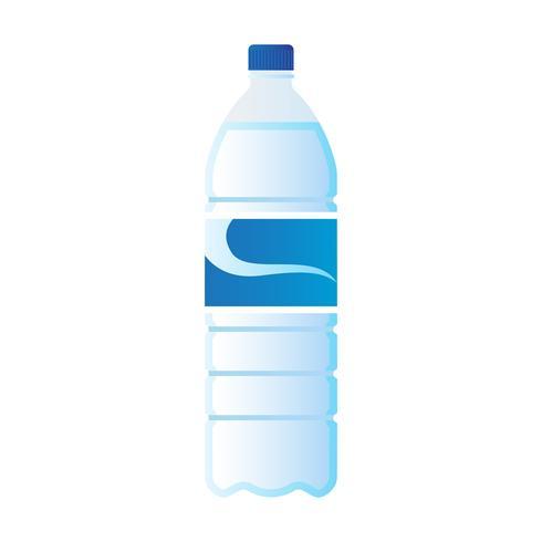 garrafa de água mineral isolada no fundo branco