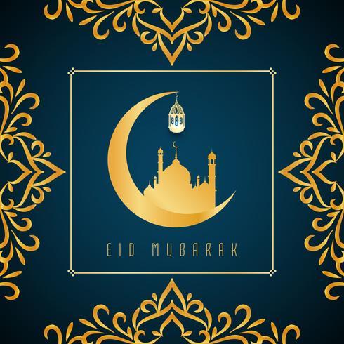 Abstrakter Eid Mubarak islamischer Hintergrund