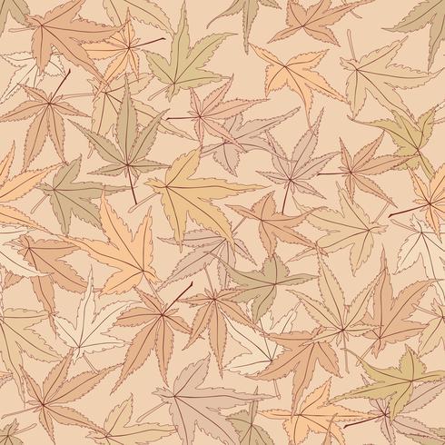 Laisse modèle sans couture. Beau fond de feuilles florales.