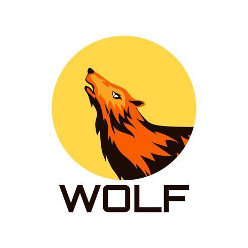 logo de loup isolé sur fond blanc vecteur