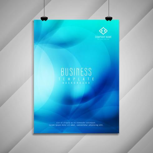 Conception de modèle de brochure abstraite entreprise bleu élégant