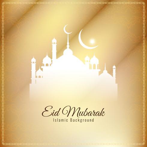 Design elegante astratto Eid Mubarak